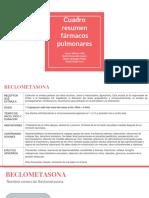 Cuadro Resumen Fármacos Pulmonares