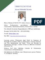 Curriculum Vitae Deborah Nicosia
