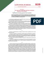 Decreto Foral 43/2019, de 30 de abril, de la Diputación Foral de Bizkaia, por el que se establecen las bases y convocatoria de subvenciones para la promoción de la empleabilidad de las personas jóvenes desempleadas del Territorio Histórico de Bizkaia, del ejercicio 2019.