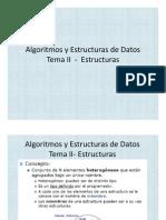 Algoritmos y Estructuras de Datos II Estructuras