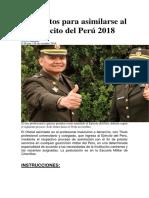 Requisitos Para Asimilarse Al Ejército Del Perú 2018