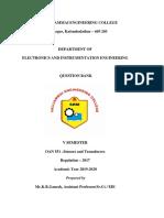 OAN551-Sensors and Transducers