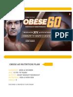 Obese 60 Nutrition Plan by Guru Mann