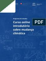 Curso Online Introdutório so re mudanças climáticas - ONU