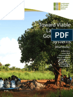 Toward Viable Landscape Governance Systems What Works