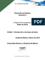 Unidad 1 Introduccion a Las Bases de Datos 2019 1