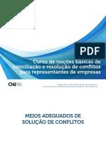 Curso de noções básicas de conciliação e resolução de conflitos