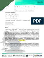 Análisis del comportamiento de suelos diatomeas mediante mezclas de caolín