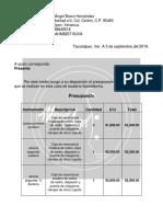 Presupuesto Miguel 1
