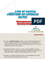 Analysis of Capital Structure or Leverage Ratios by Sreeraj r