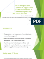 The Impact of Transportation Management System on Supply