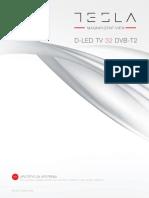 Tv Led Tesla Tv 32d301 Dvb t2 User Manual Web Srb