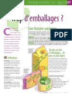Infographie Carrefour - Trop d´emballages -  Février 2005