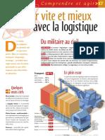 Infographie Carrefour - Livrer Vite Et Mieux Avec La Logistique - Janvier 2005