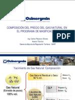 Composicion Del Precio Del Gas Natural en El Programa de Masificacion