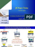 Corporate Update August 2019 Jk Paper