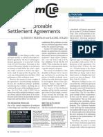 Drafting Enforceable Settlement Agreements