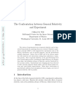 The Confrontation Between General Relativity and Experiment