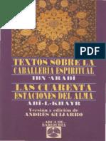 Textos Sobre La Caballeria Espiritual Ibn Arabi PDF.pdf