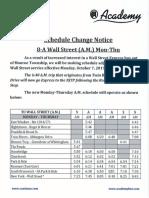 Monroe's new Wall Street Express bus schedule