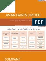 Asian Paints - Reference PPT by Yadnya