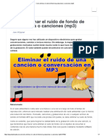 Como Eliminar El Ruido de Fondo de Grabaciones o Canciones (Mp3)