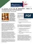 Révision de la Loi de Financement