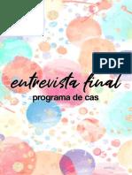 Entrevista Final CAS - Cierre Año Escolar