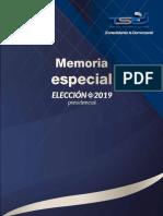 Memoria elecciones 2019 el salvador TSE