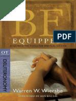 07. WIERSBE, Warren W. (2010). Deuteronomio. Estar Equipado. Adquirir las herramientas para el éxito espiritual