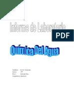 Informe de Quimica Del Agua