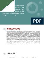 Estudio de Impacto Ambiental Para El Proyecto de Perforación de Cuatro (04) Pozos Exploratorios Desde Dos (02) Plataformas en El Lote 174