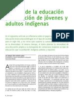 Calidad de la educación y educación de jóvenes y adultos indígenas