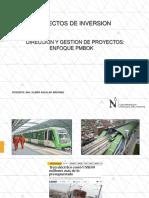 Clase Direccion de Proyectos Enfoque Pmbok- 1-2019-1