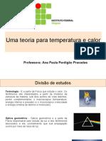 Teoria Para Temperatura e Calor