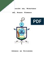 instalación de  párroco
