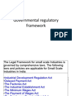 Governmental Regulatory Framework