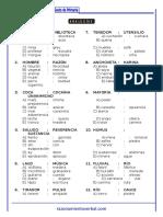 25 Analogias Sexto de Primaria