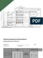 Matriz Para Identificación de Peligros, Valoración de Riesgos y Determinación de Controles