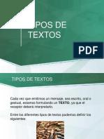 TIPOS DE TEXTOS