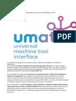 La Interfaz Umati Garantiza Una Conexión Neutral y Abierta de Las Máquinas a Sistemas TI Antepuestos.