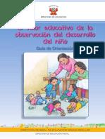 El Valor Educativo de La Observacion Del Desarrollo Del Nino