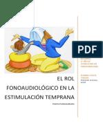 El Rol Fonoaudiológico en La Estimulación Temprana