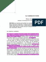 La Academia de Letrán MARCO ANTONIO CAMPOS