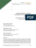 Campo Politico y Campo Funerario