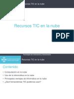 1.3.3 Recursos TIC en La Nube