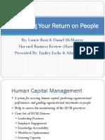 Maximizing Your Return on People