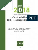 Cuenta pública 2018 Sefiplan