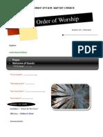 Order of Worship 11 21 2010 v1