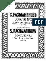 Rachmaninoff Sonata No.2 Op36 1st